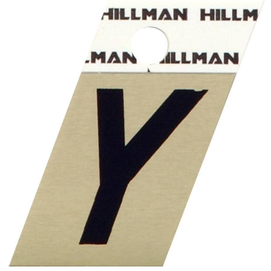 The Hillman Group 1.5-in Black and Gold House Letter Y