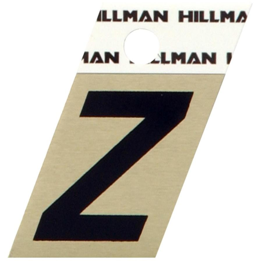 Hillman Sign Center 1.5-in Black and Gold House Letter Z