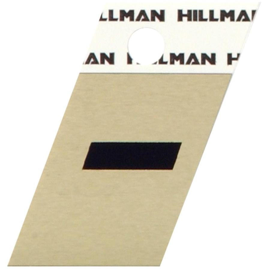 Hillman 1.5-in Black and Gold House Number Hyphen