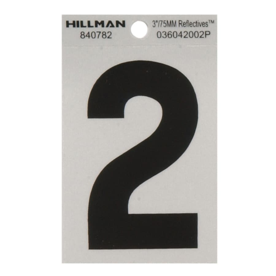 The Hillman Group 3-in Black and Silver House Number 2