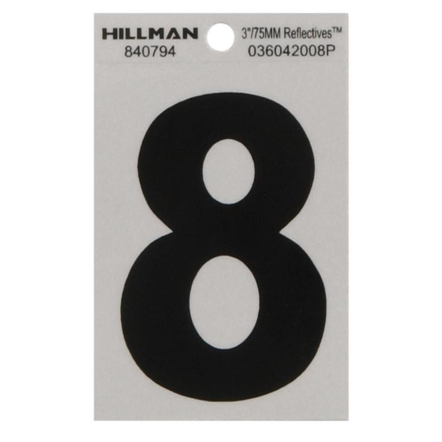 Hillman 3-in Black and Silver House Number 8