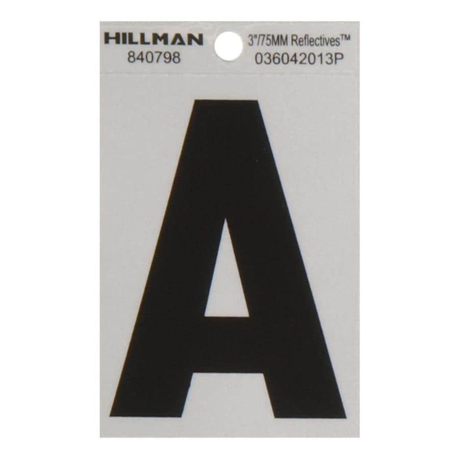 Hillman 3-in Black and Silver Reflective House Letter A