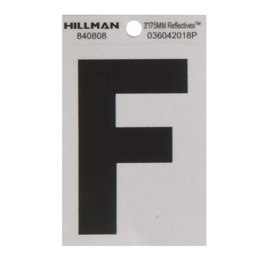 House Letters Lowes Shop Hillman 3 In Black And Silver House Letter F At Lowescom