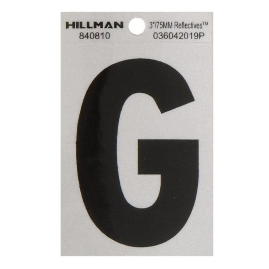 The Hillman Group 3-in Black and Silver Reflective House Letter G