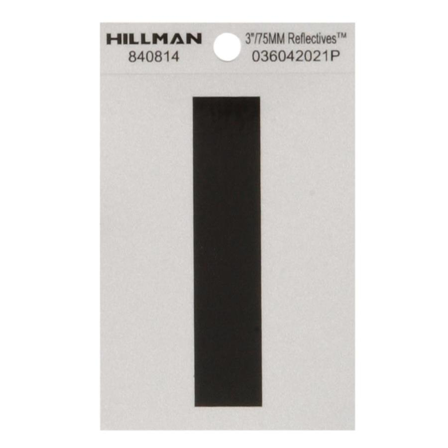 Hillman 3-in Black and Silver Reflective House Letter I