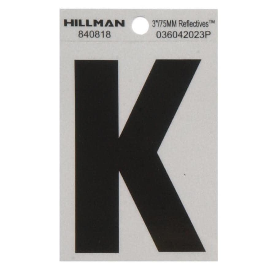 The Hillman Group 3-in Black and Silver House Letter K