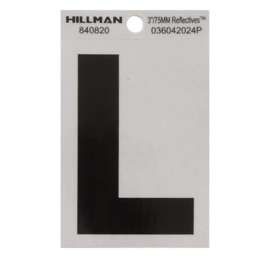 Hillman 3-in Black and Silver House Letter L