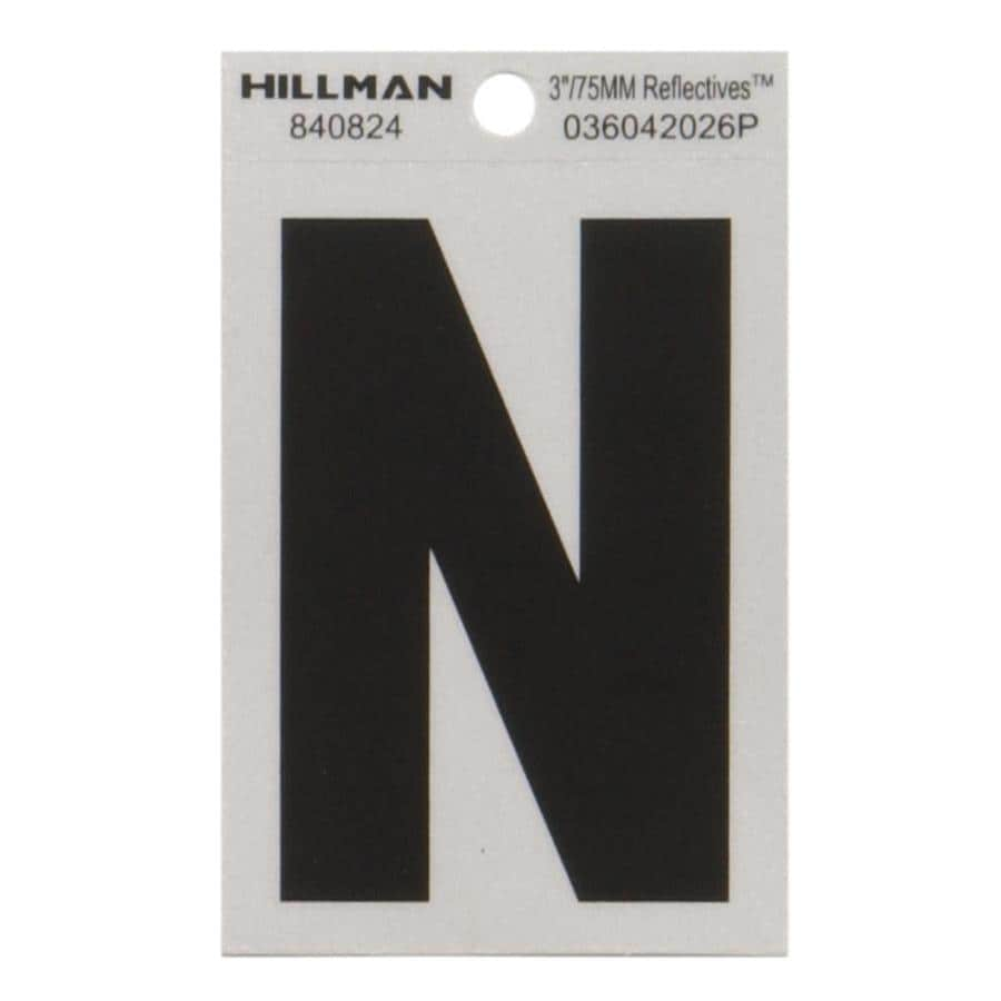 Shop hillman 3 in black and silver house letter n at lowescom for House letters lowes