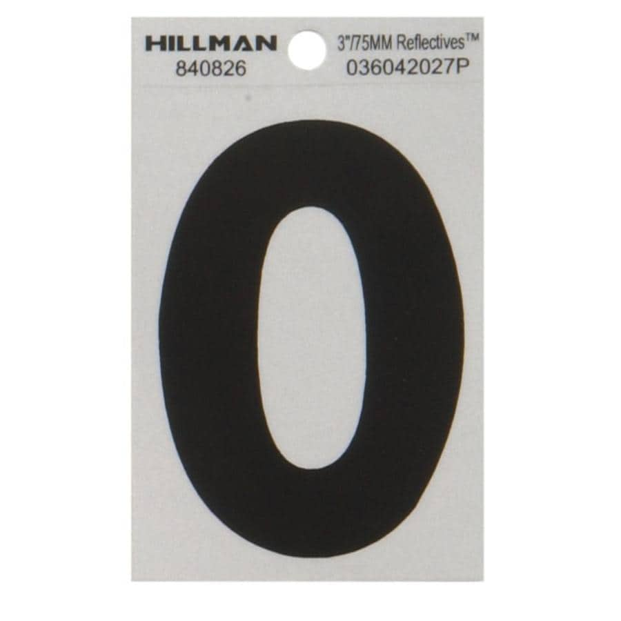The Hillman Group 3-in Black and Silver Reflective House Letter O