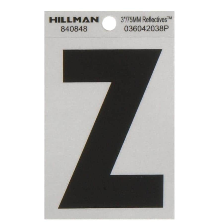Shop hillman 3 in black and silver reflective house letter for House letters lowes