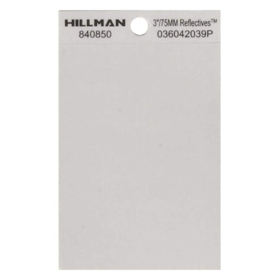Hillman Sign Center 3-in Black and Silver House Blank Space
