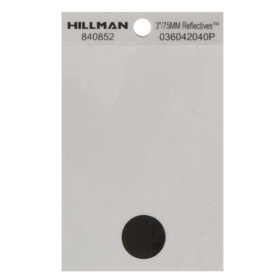 Hillman 3-in Black and Silver House Letter-Period