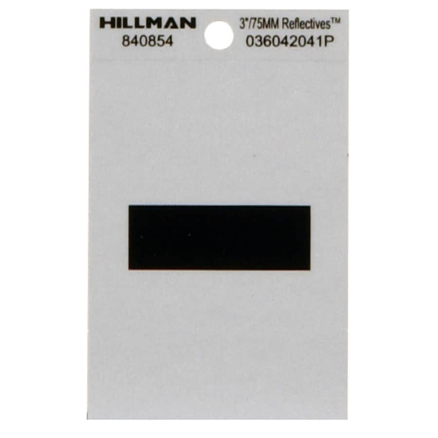 Hillman 3-in Black and Silver Reflective House Number Hyphen