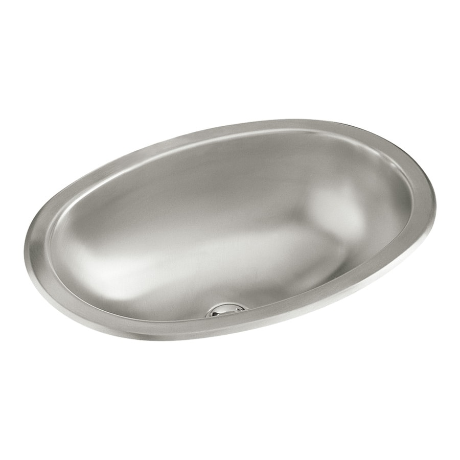 Shop sterling satin stainless steel oval bathroom sink at Stainless steel bathroom vanities