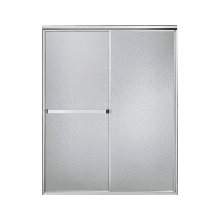 Sterling Standard 51-in to 56-in W x 65-in H Silver Sliding Shower Door