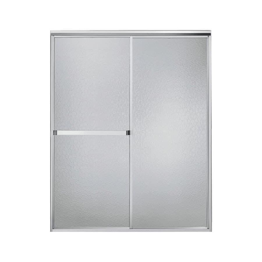 Sterling Standard 47-in to 52-in W x 65-in H Silver Sliding Shower Door
