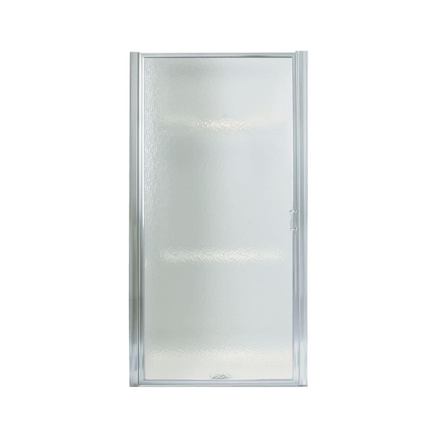 Sterling Standard 31-in to 32.5-in Framed Silver Pivot Shower Door