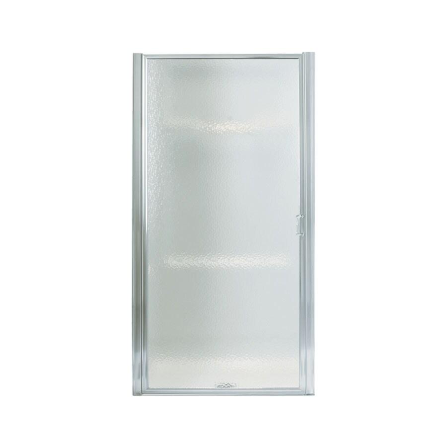 Sterling Standard 27-in to 28.5-in W Framed Silver Pivot Shower Door