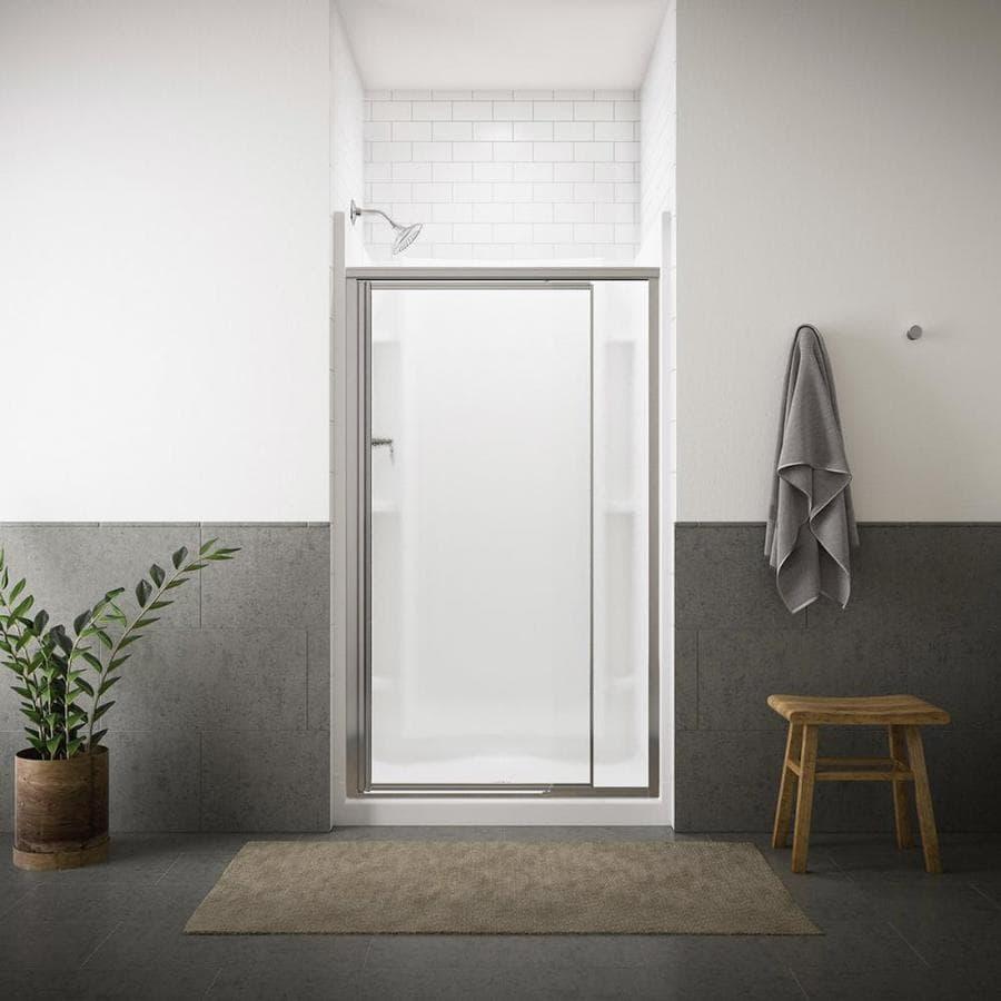 Sterling Vista Pivot II 36-in to 42-in W Framed Silver Pivot Shower Door