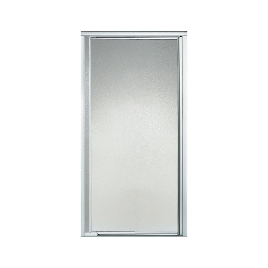 Sterling 31-1/4-in to 36-in Silver Framed Pivot Shower Door