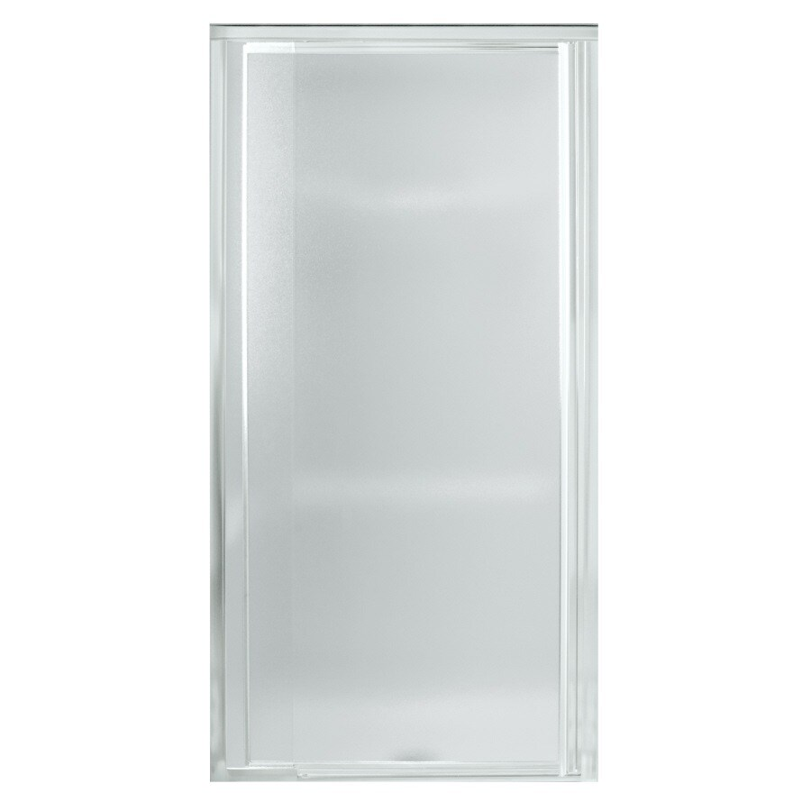 Sterling Vista Pivot II 23-in to 26.5000-in Framed Silver Pivot Shower Door