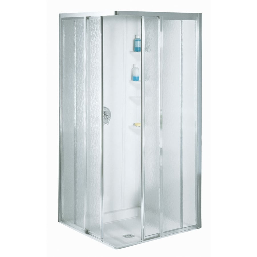 Sterling White Fiberglass Square 5 Piece Corner Shower Kit  Actual   76 875 inShop Sterling White Fiberglass Square 5 Piece Corner Shower Kit  . Lowes Corner Shower Kit. Home Design Ideas
