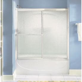 Sterling Deluxe 59.375 In W X 56.25 In H Bathtub Door