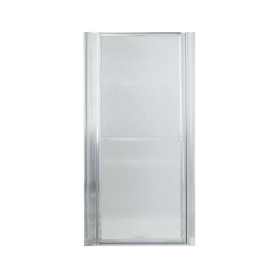 Sterling Finesse 27.5-in to 30.5-in Silver Framed Hinged Shower Door