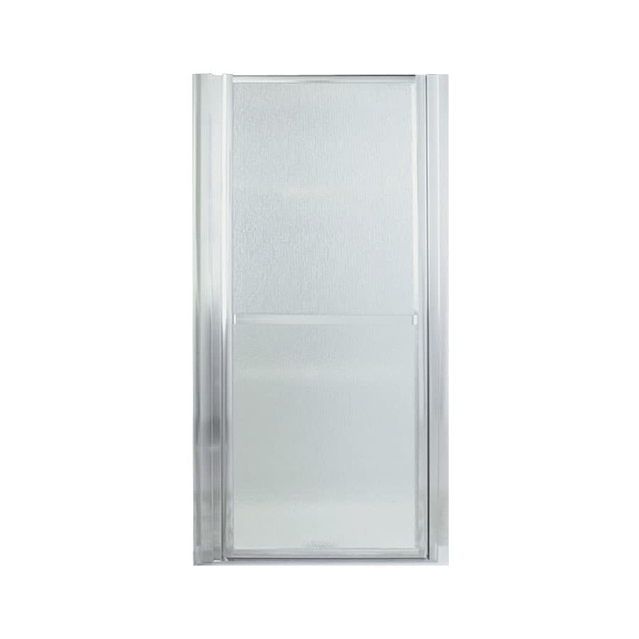 Sterling Finesse 33-in to 36-in Silver Framed Hinged Shower Door