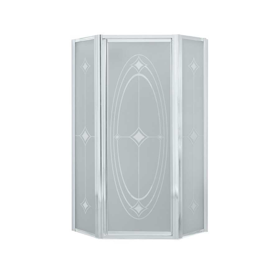 Sterling Framed Silver Shower Door