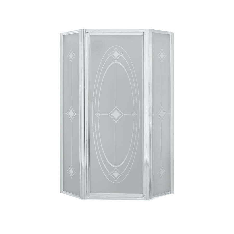Sterling 36.125-in W x 72-in H Silver Neo-Angle Shower Door