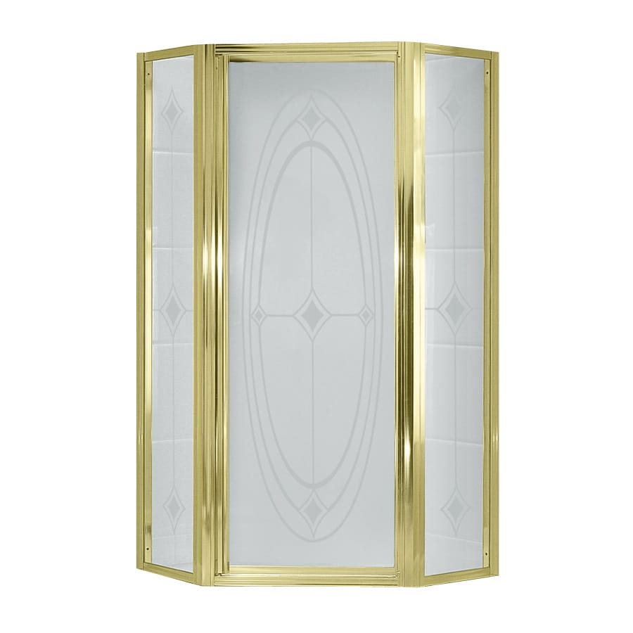 Shop Sterling 36 125 In Polished Brass Neo Angle Shower