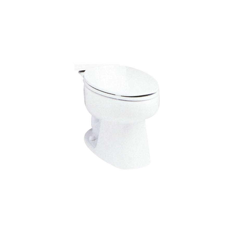 Sterling White Elongated Standard Height Toilet Bowl