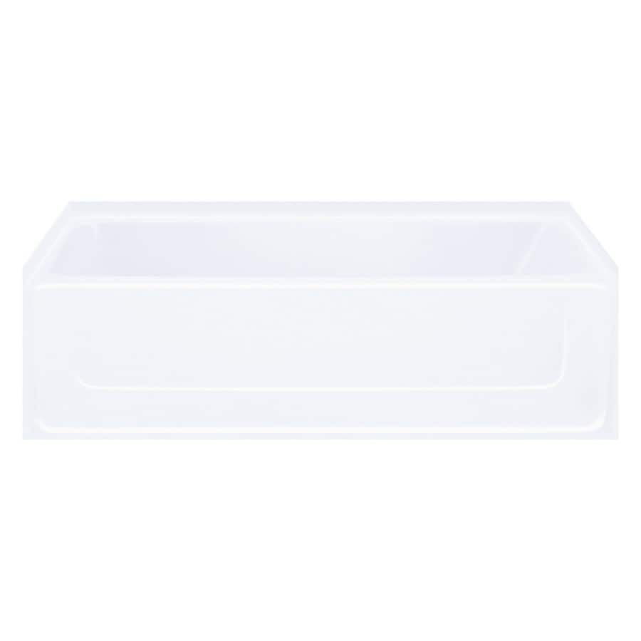 Sterling All Pro Fiberglass and Plastic Rectangular Skirted Bathtub with Left-Hand Drain (Common: 30-in x 60-in; Actual: 15-in x 30.5-in x 60.25-in)
