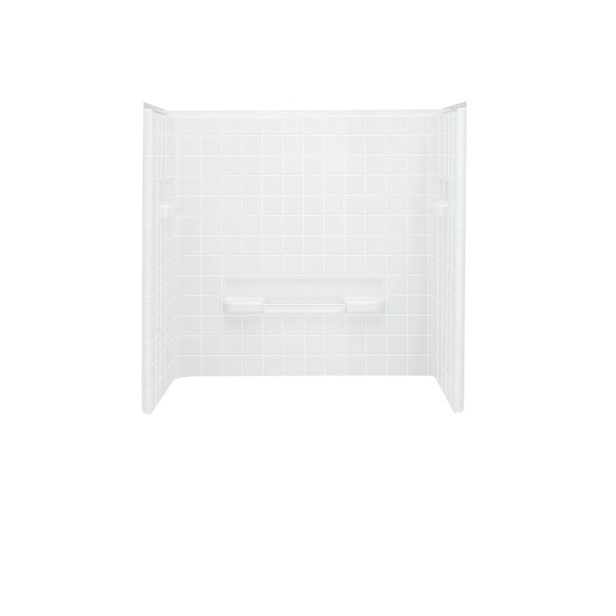 Shop Sterling All Pro White Vikrell Bathtub Wall Surround (Common ...