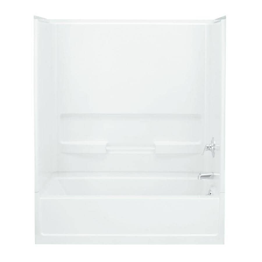 Sterling Advantage 60.25-in White Vikrell Alcove Bathtub with Right-Hand Drain