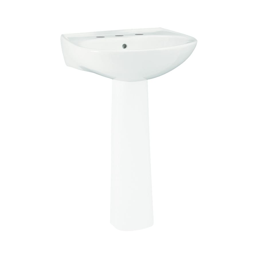 18 Pedestal Sink : ... 18.25-in L x 18-in W White Vitreous China Oval Pedestal Sink Top at