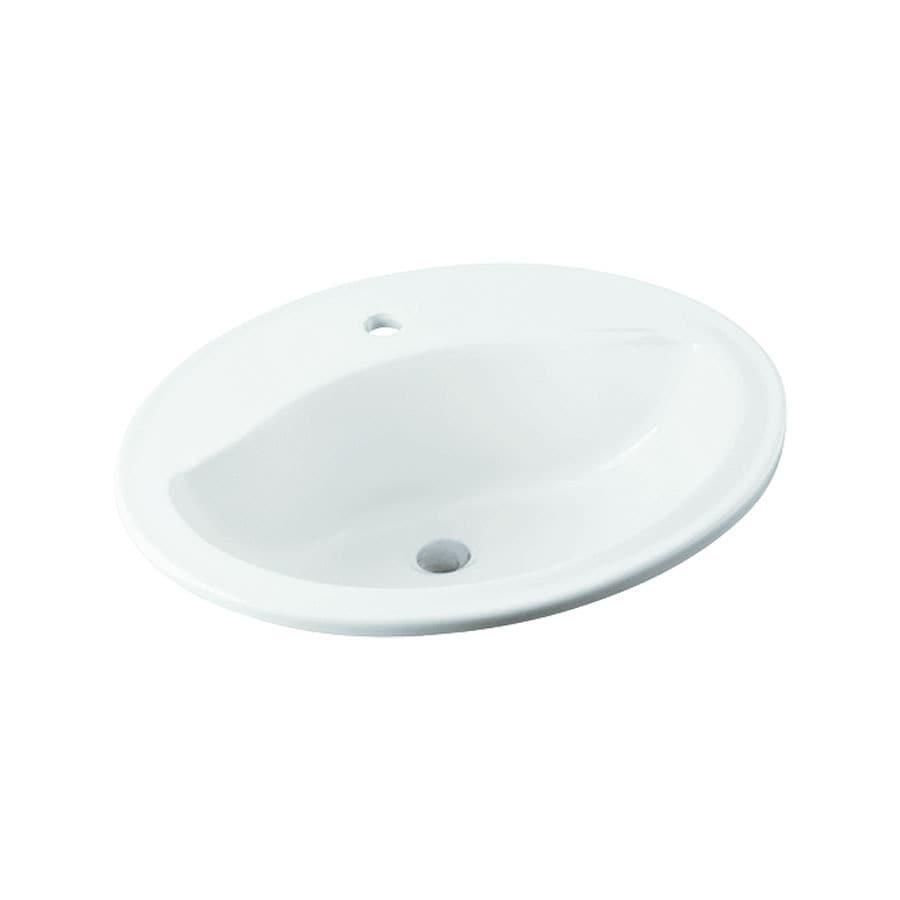 Sterling Sanibel White Drop-In Round Bathroom Sink