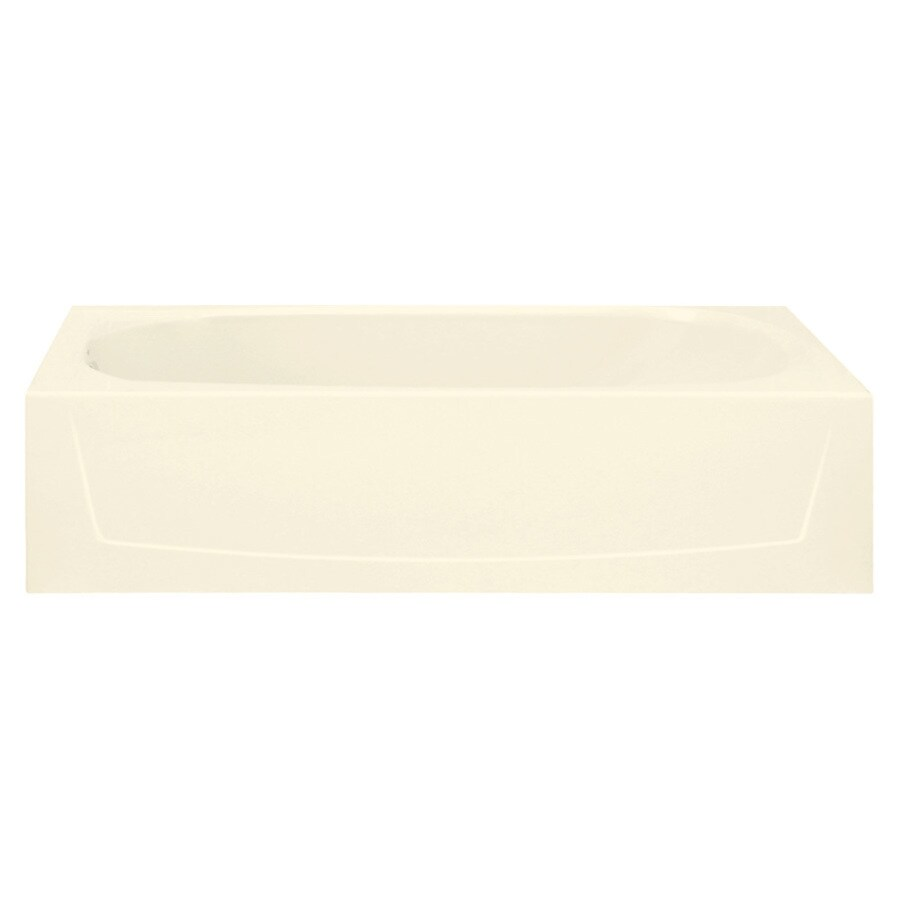 Sterling Performa 60.25-in Biscuit Vikrell Skirted Bathtub with Left-Hand Drain