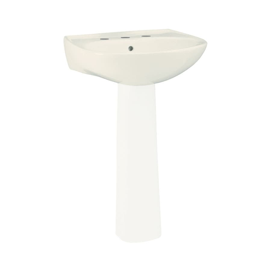 Sterling Sacramento 21.25-in L x 18.25-in W Biscuit Vitreous China Oval Pedestal Sink Top