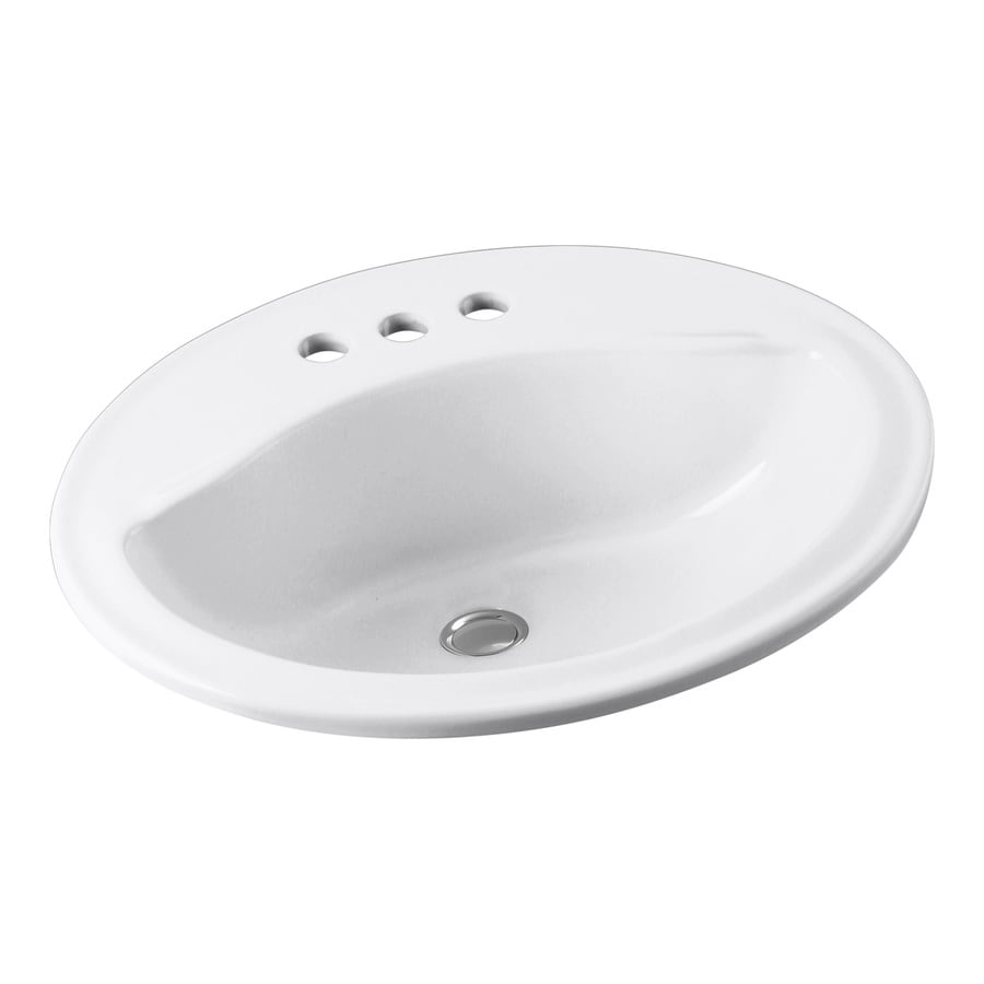 oval bathroom sinks drop in shop sterling sanibel white drop in oval bathroom sink 23895