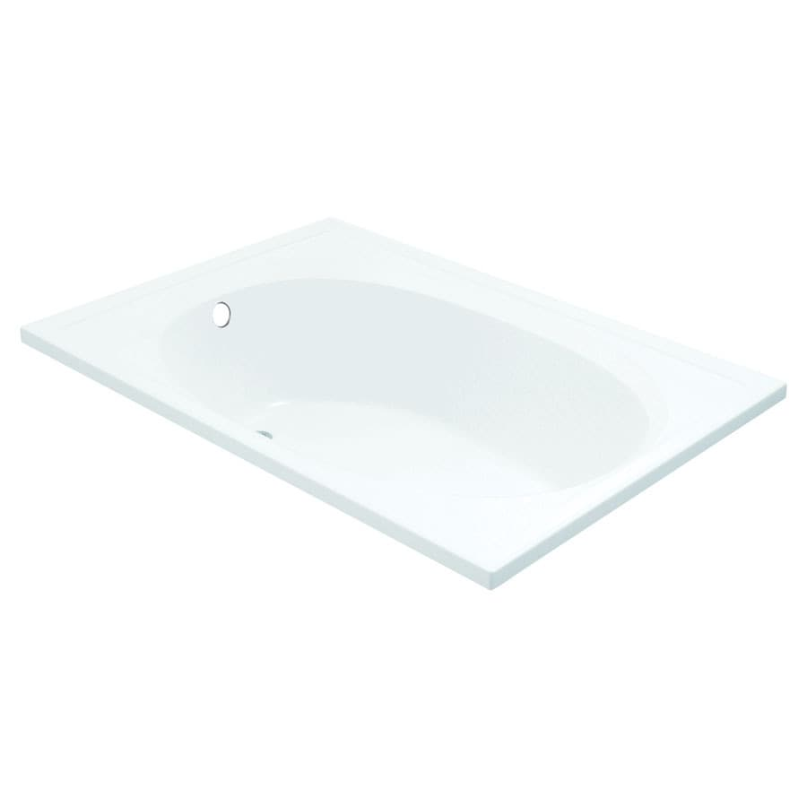 Sterling Tranquility 60-in White Vikrell Drop-In Whirlpool Tub with Reversible Drain