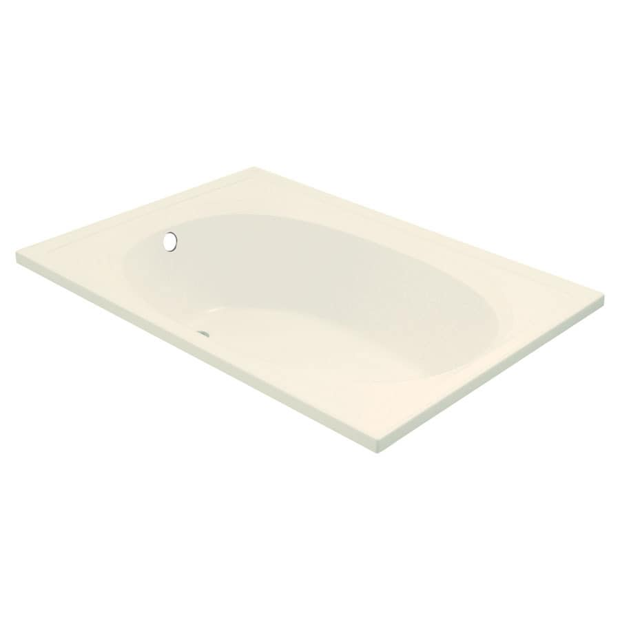 Sterling Tranquility Biscuit Fiberglass and Plastic Oval In Rectangle Whirlpool Tub (Common: 42-in x 60-in; Actual: 18.125-in x 43.5-in x 60-in)