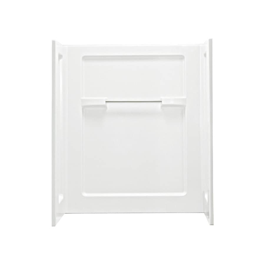 Sterling Advantage White Shower Wall Surround Side and Back Wall Kit (Common: 48-in x 35-in; Actual: 55.25-in x 48-in x 35.25-in)