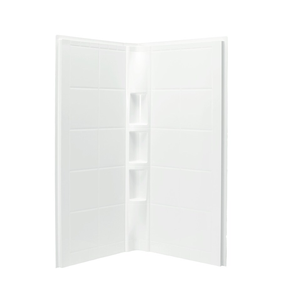 Sterling Shower Wall Surround Corner Wall Panel (Common: 41-in x 1.625-in; Actual: 74.25-in x 40.25-in x 1.625-in)