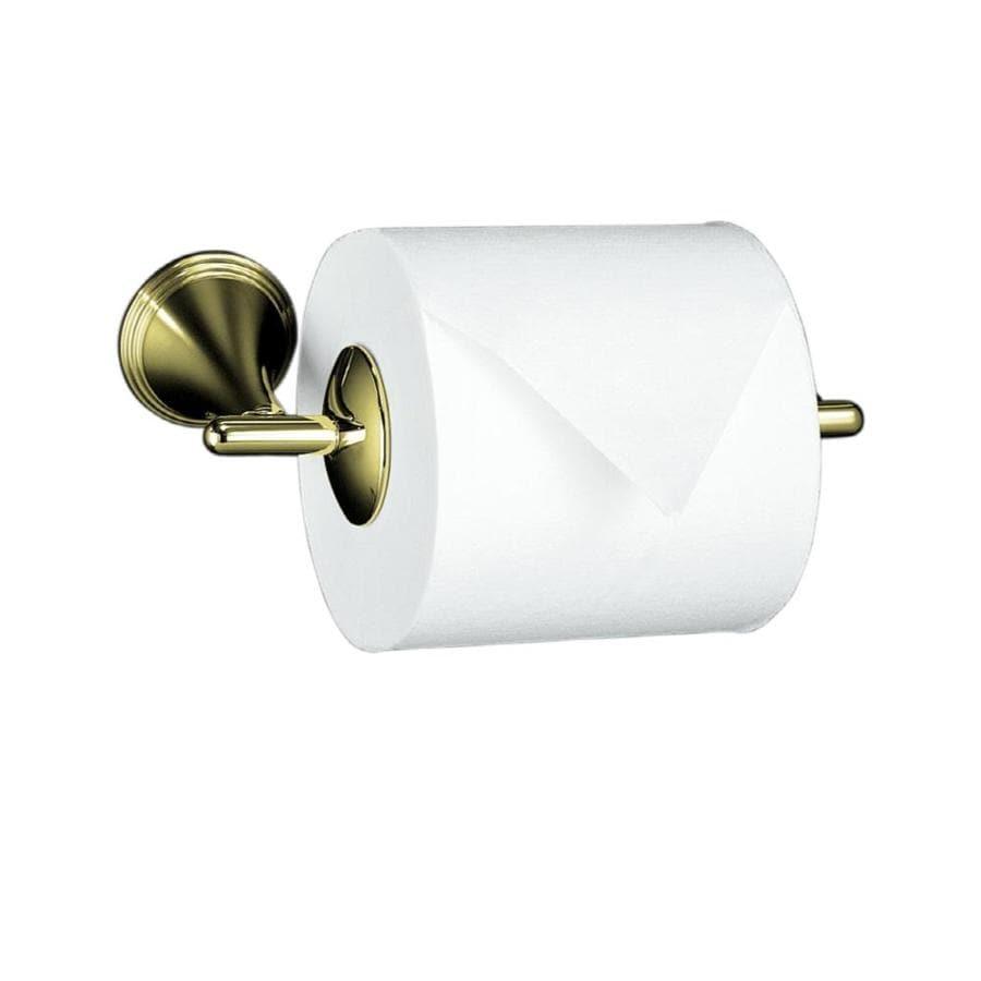 KOHLER Finial Vibrant French Gold Surface Mount Toilet Paper Holder