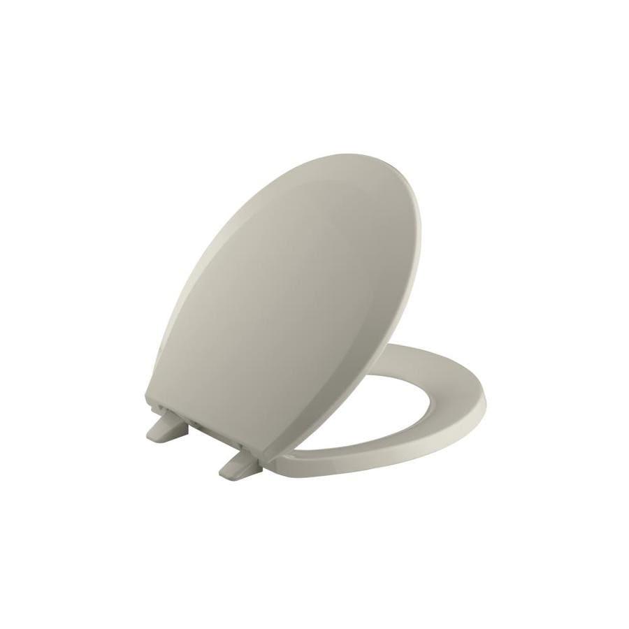 KOHLER Lustra Sandbar Plastic Round Toilet Seat