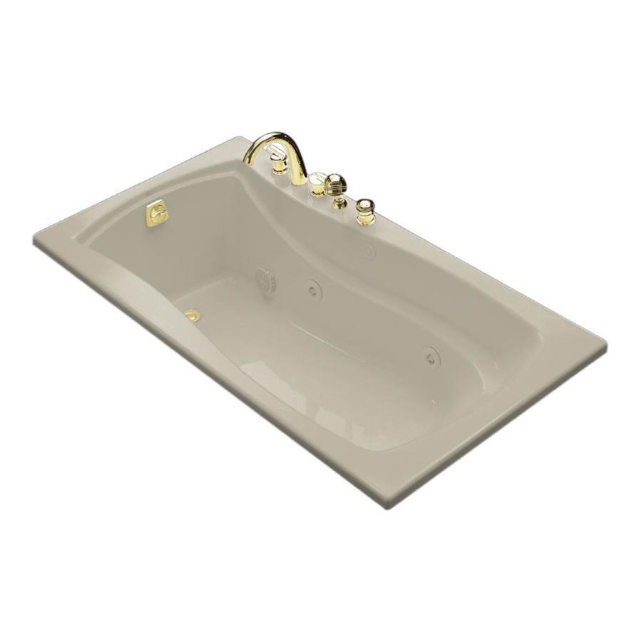KOHLER Mariposa 66-in Sandbar Acrylic Drop-In Whirlpool Tub with Left-Hand Drain