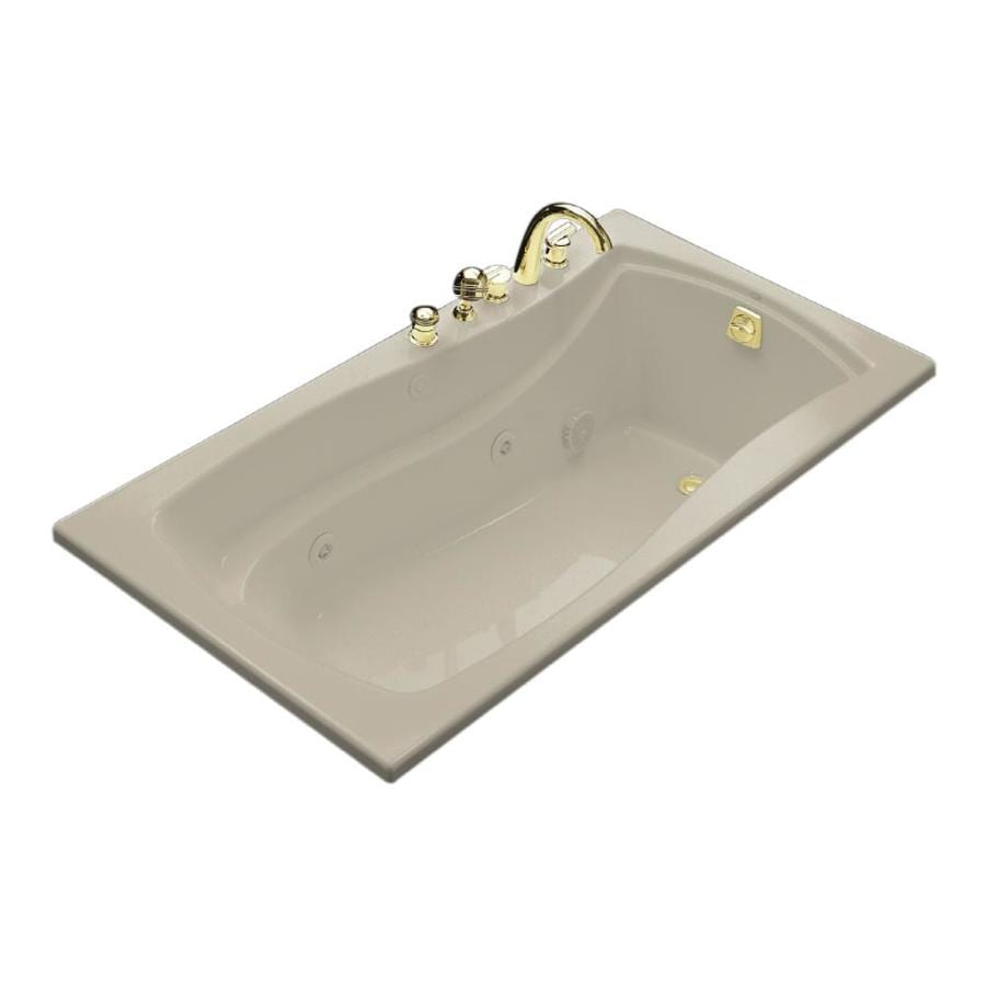 KOHLER Mariposa Sandbar Acrylic Rectangular Whirlpool Tub (Common: 36-in x 66-in; Actual: 20-in x 35.875-in x 66-in)