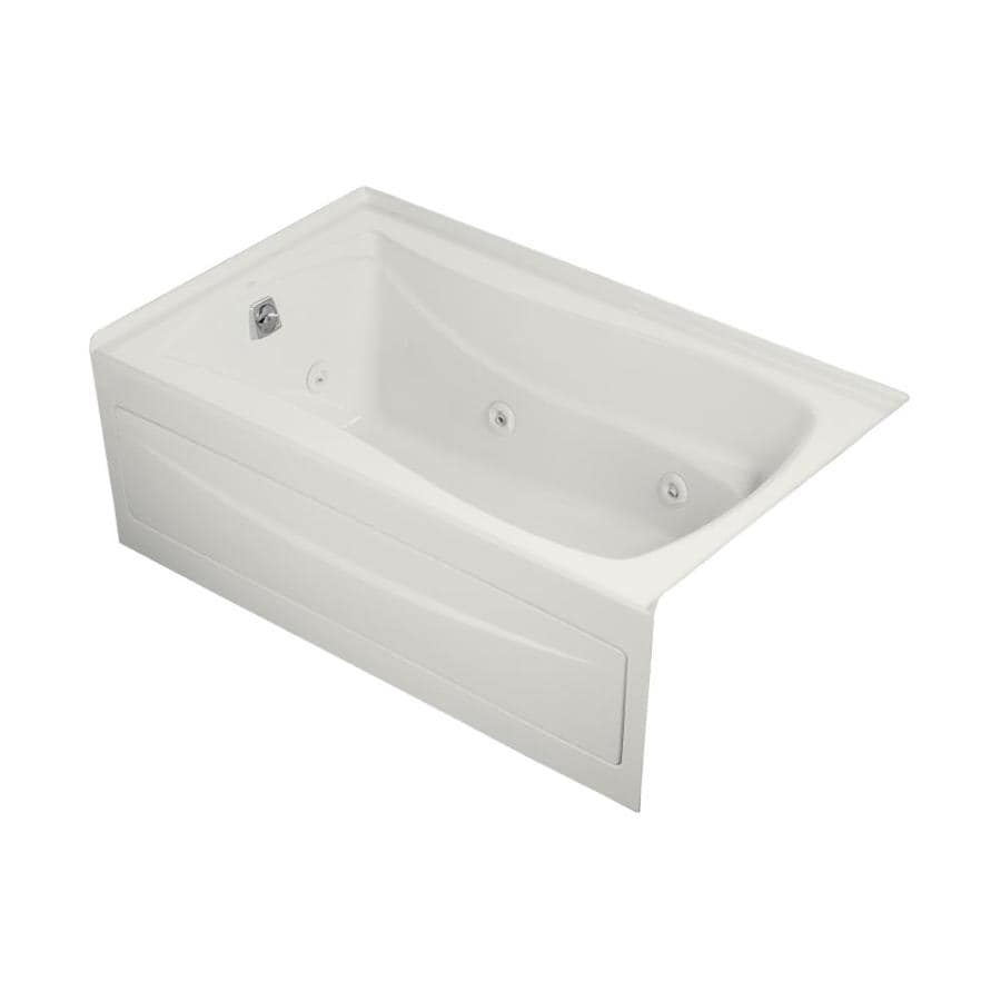 KOHLER Mariposa 60-in White Acrylic Skirted Whirlpool Tub with Left-Hand Drain